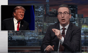 John Oliver: 'This guy is too dumb to really understand what he's doing so I guess we have no choice but to let him keep being president.'