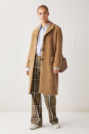 Fluffy alpaca coat, £250, arket.com (modelshot)
