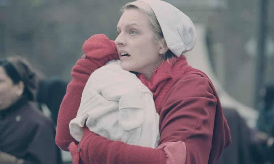 Elisabeth Moss as June/Offred in The Handmaid's Tale.