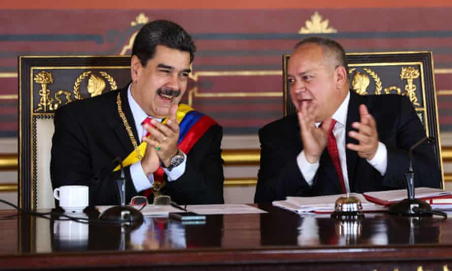 President Nicolás Maduro and the head of Venezuela's national constituent assembly, Diosdado Cabello, have both been indicted for drug trafficking in the US.