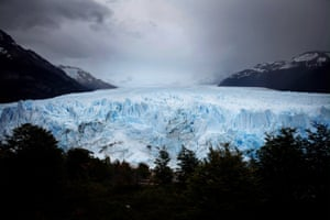 The Perito Moreno glacier stands in Los Glaciares national park, part of the southern Patagonian ice field, in Argentina