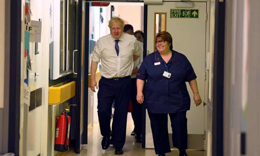 Boris Johnson visits Milton Keynes University Hospital in Buckinghamshire