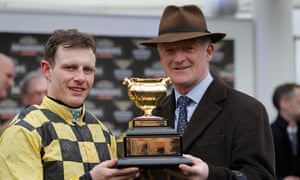 Willie Mullins and jockey Paul Townend with the Gold Cup.
