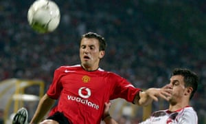 Liam Miller in action for Manchester United against Dinamo Bucharest in 2004.