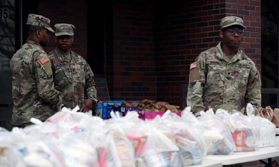 National guard troops have been deployed to New Rochelle, New York, to tackle the coronavirus. Governor Andrew Cuomo criticised the federal response to the crisis.