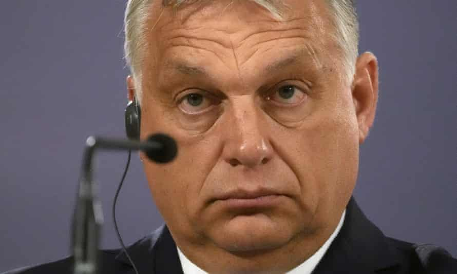 """Viktor Orban, whose law has been condemned by Ursula von der Leyen as """"disgraceful""""."""