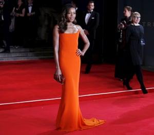 Naomie Harris poses on the red carpet
