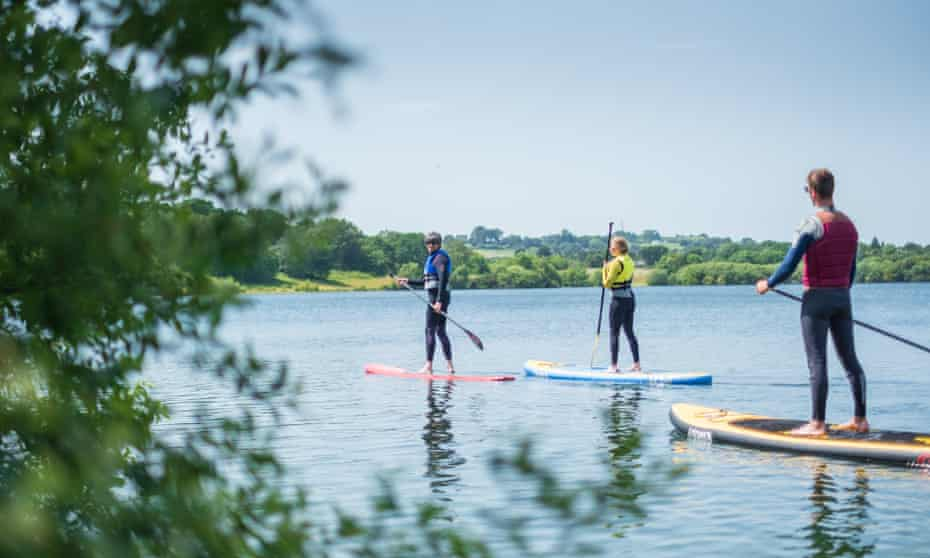 Wild Shore Delamere, offers SUP (£110 for six people), open-water swimming and Aqua Chimp, a unique ropes course over water, without safety harnesses (£20pp). Cardigan © Wild Shore Delamere 344
