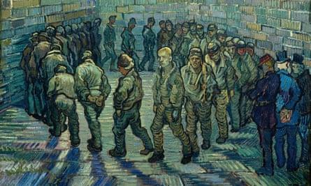 Vincent van Gogh's Prisoners Exercising, 1890.