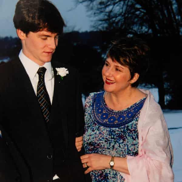 Matthew Betts with his mother
