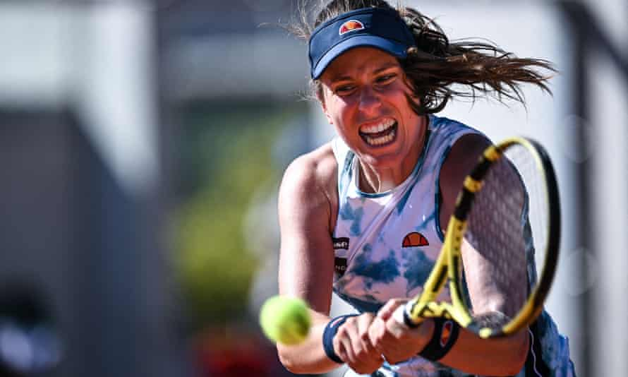 Johanna Konta was beaten in the first round of the French Open by Sorana Cirstea.