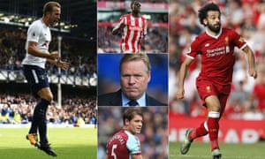 Harry Kane was in potent form for Spurs at Everton; Kurt Zouma impressed for Stoke; Ronald Koeman has problems to ponder; James Tarkowski proved his worth to Burnley; Mohamed Salah's finishing must improve.