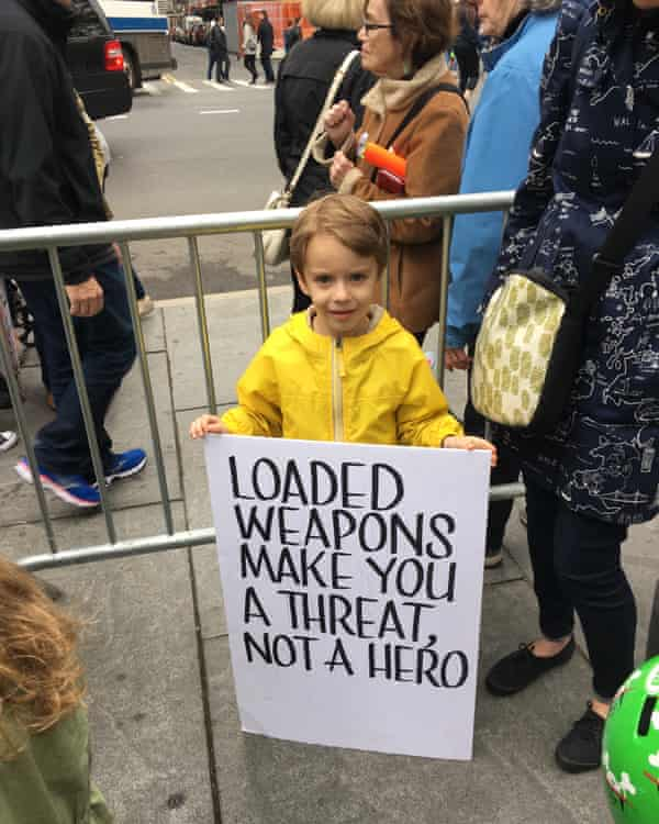 A young protester