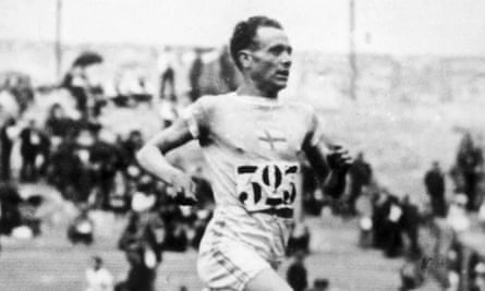 Paavo Nurmi in action at the Paris Olympic Games, 1924.