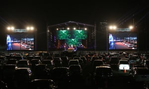 Drive-in concert in Jakarta, Indonesia, on Saturday.