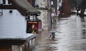 High flood waters in York