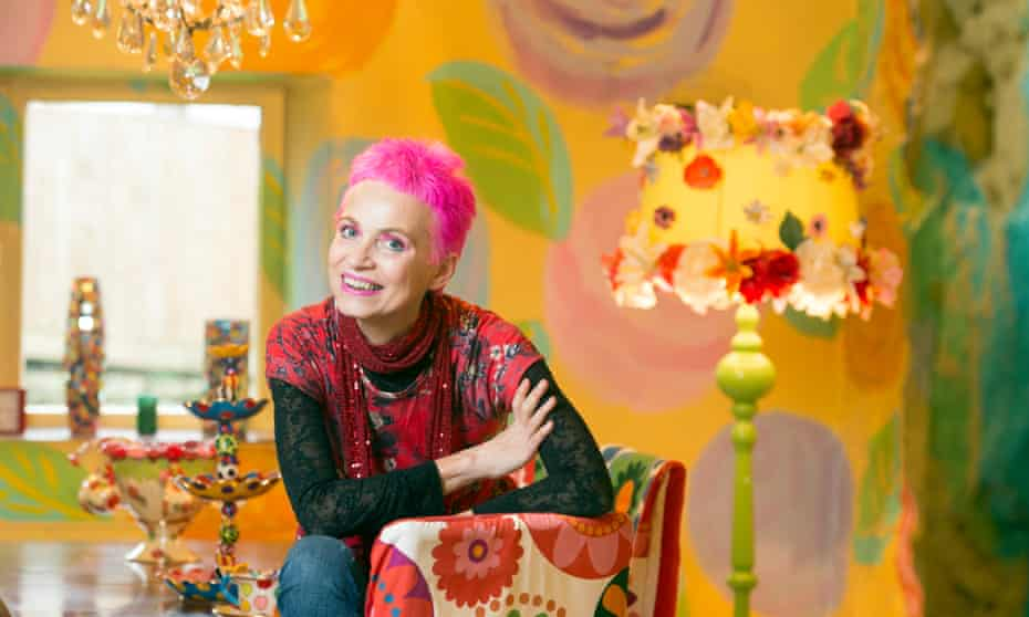 Potter Mary Rose Young at her colourful home in the Forest of Dean.