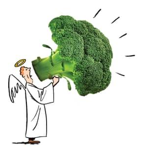 Angel with broccoli