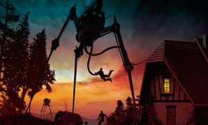 Giant strides … an illustration inspired by HG Wells's The War of the Worlds. Photograph: Alamy