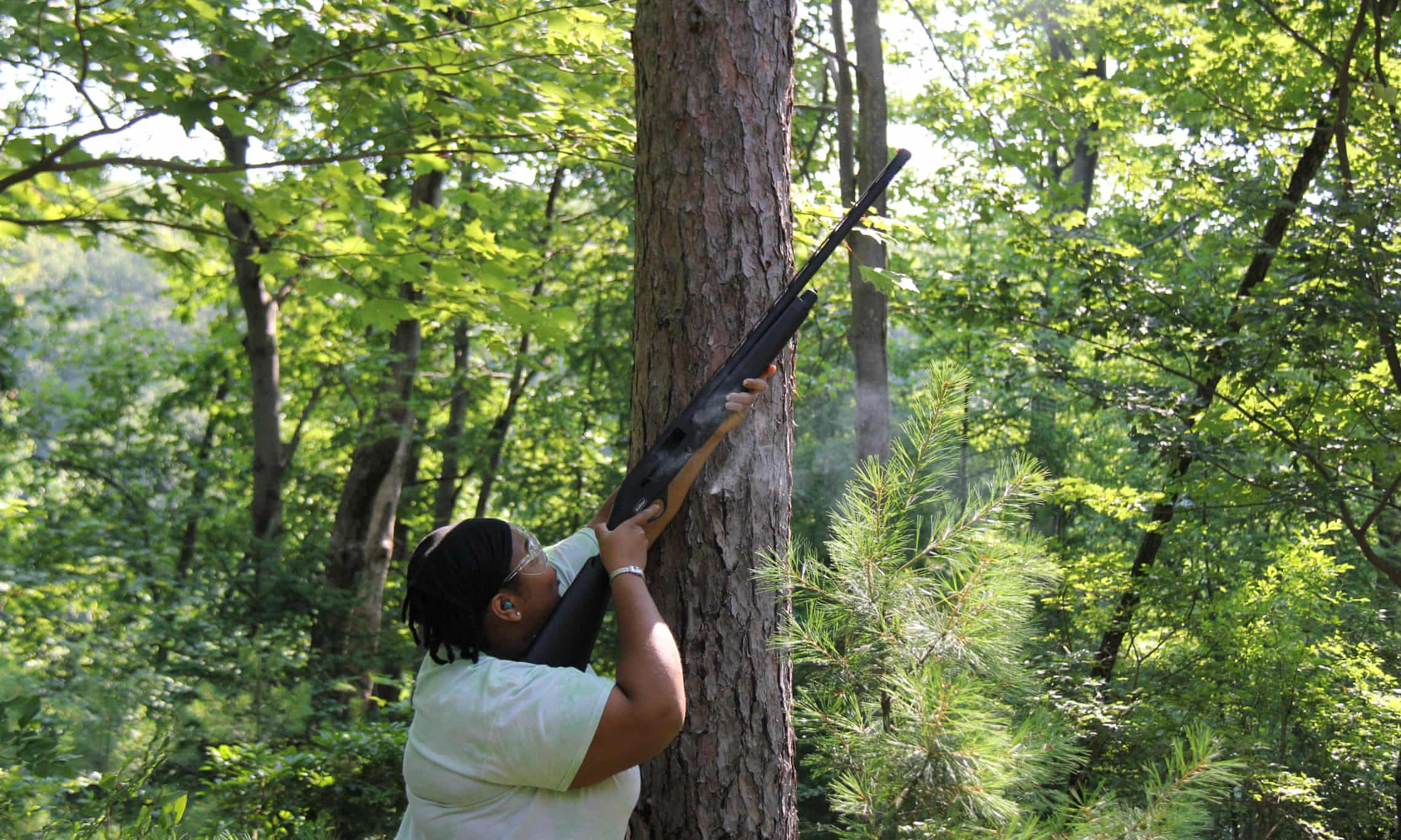 Angelica Patterson: 'A shotgun is an efficient, cheap and effective way to collect the high-up leaves.'