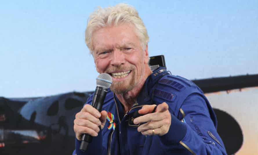 Richard Branson at a press conference in New Mexico in July. A Virgin statement read: 'Unity 22 was a safe and successful test flight that adhered to our flight procedures and training protocols.'