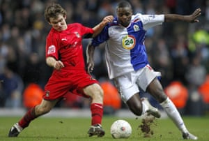 Jay Tabb in action for Coventry in the FA Cup against Blackburn in 2008.