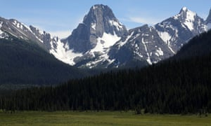 Peaks surround the Great Trail in the High Rockies of Alberta