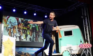 Solo breakaway: Ned Boulting on stage as part of his one-man show, Tour de Ned