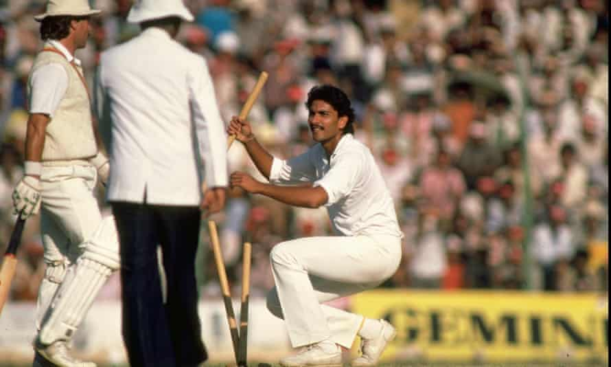 Shastri playing against England in 1985.