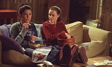 Lauren Graham as Lorelai Gilmore and Alexis Bledel as her daughter, Rory