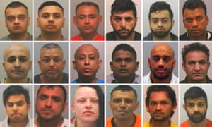 The 17 men and one woman who were convicted of rape, supplying drugs and conspiracy to incite prostitution following Operation Sanctuary.