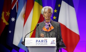 Christine Lagarde, Managing Director and Chairwoman of the International Monetary Fund, delivers a speech during a high-level forum on debt at the Finance Ministry in Paris, France, May 7, 2019. REUTERS/Benoit Tessier