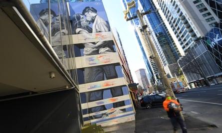 Coronavirus-inspired street art in Melbourne