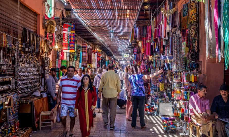 Souk, Marrakech, Morocco.