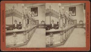 The New York Tribune office.