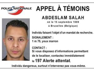 Handout picture showing Belgian-born Salah Abdeslam