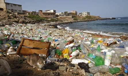 Plastics pollution in Dakar, Senegal.