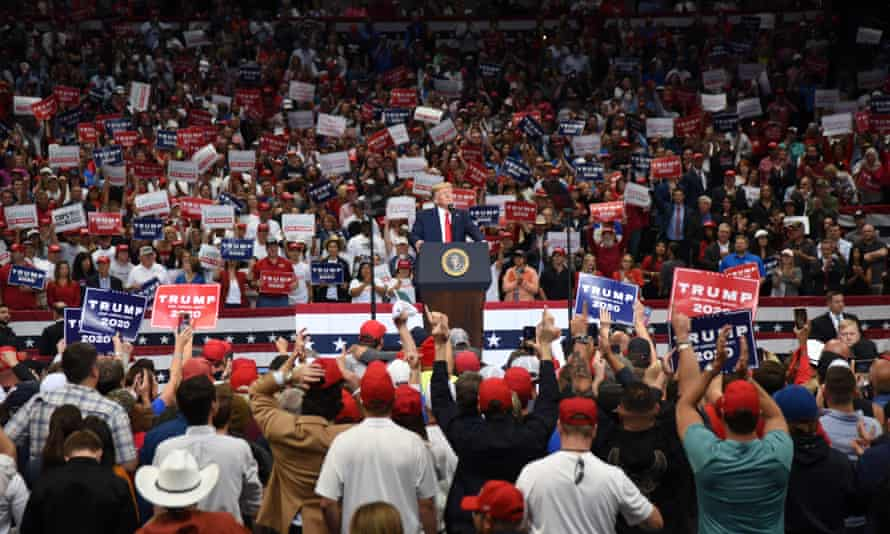 A Trump campaign rally in Dallas this month.