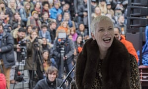Annie Lennox at the Women's March on London