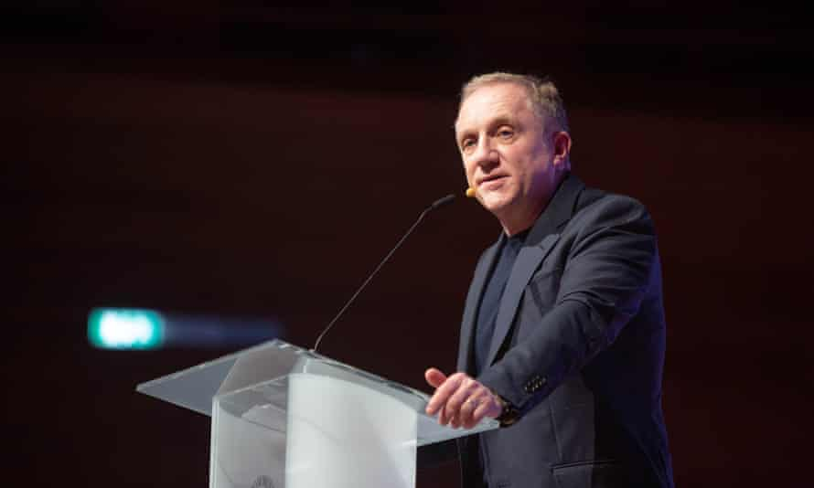 Francois-Henri Pinault, Chairman and CEO, Kering speaks on stage during Day one of the Copenhagen Fashion Summit