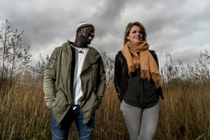 Seckou Keita and Catrin Finch, photographed at Dyfi Osprey Project in Machynlleth, Wales.