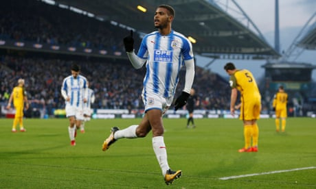 Huddersfield leapfrog Brighton thanks to Steve Mounié's return to form