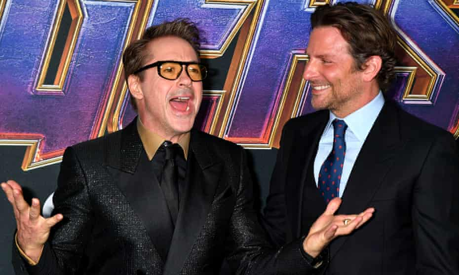 Robert Downey Jr and Bradley Cooper at the premiere of Avengers: Endgame.
