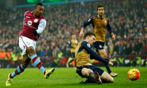 Aston Villa's Adama Traore showing pace and power but no goal.