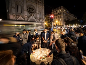 Nice, France People pay tribute following the killings by a man armed with a knife inside the Notre-Dame basilica which left three worshippers dead