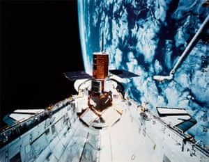 The 'Canadarm' in operation - to the right