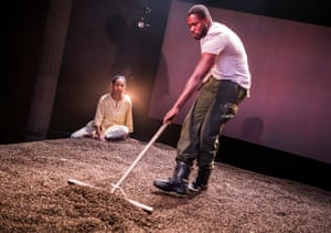 Anjana Vasan and Martins Imhangbe in An Adventure by Vinay Patel at the Bush theatre, London, in 2018