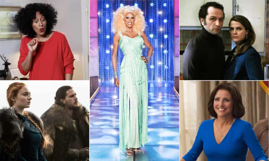 Black-ish, Ru Paul's Drag Race, The Americans, Veep and Game of Thrones: all up for awards.