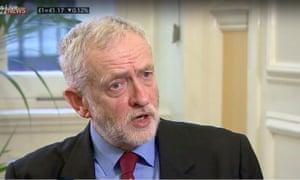Jeremy Corbyn on Sky News.