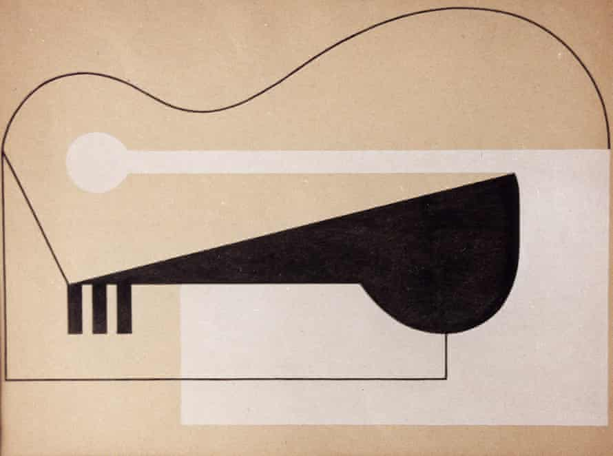 Isamu Noguchi, Paris Abstraction, 1927-1928. Gouache on paper